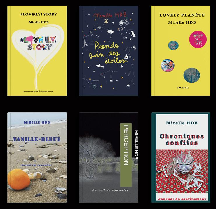 Livres, romans, nouvelles de l'écrivaine Mirelle HDB